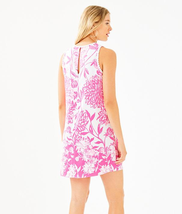 Nala Soft Shift Dress, Resort White Caliente Engineered Dress, large