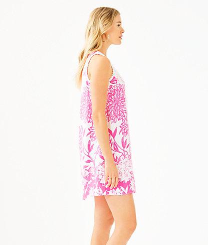 Nala Soft Shift Dress, Resort White Caliente Engineered Dress, large 2