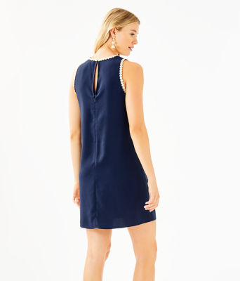 Nala Soft Shift Dress, True Navy, large 1