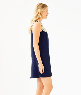 Nala Soft Shift Dress, True Navy, large 2