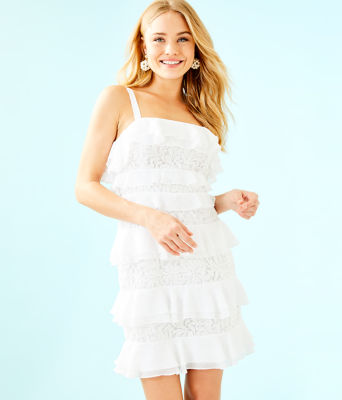 Olive Dress, Resort White, large 0