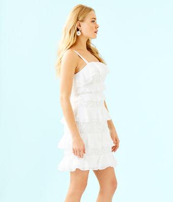 Olive Dress, Resort White, large 2