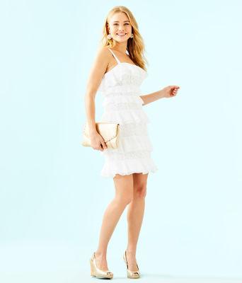 Olive Dress, Resort White, large 3