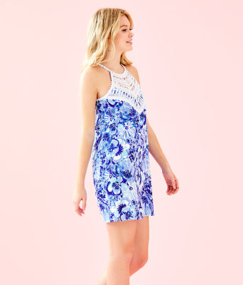 Pearl Soft Shift Dress, Coastal Blue Catch N Keep Small, large