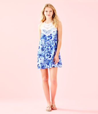 Pearl Soft Shift Dress, Coastal Blue Catch N Keep Small, large 3