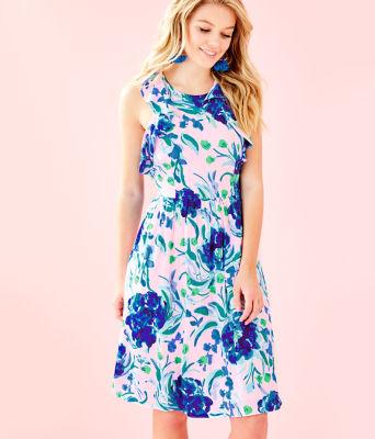 Rory Dress, Pink Tropics Tint Sweet Pea, large