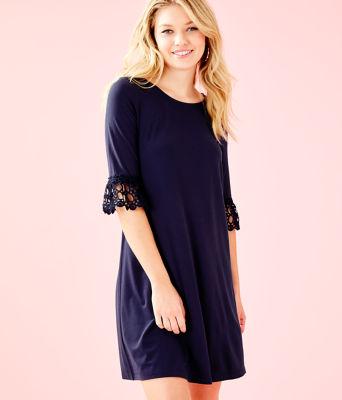 Ophelia Dress, True Navy, large