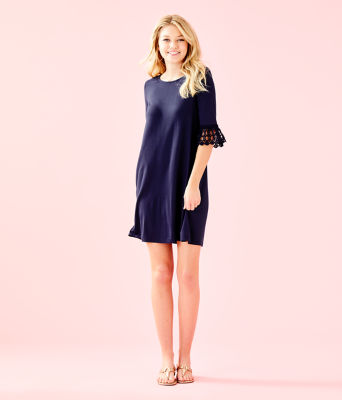 Ophelia Dress, True Navy, large