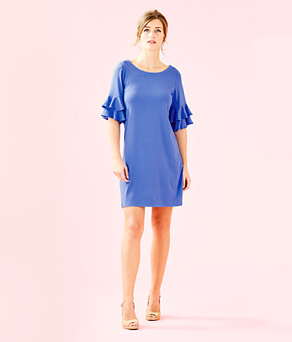 Lula Dress, Coastal Blue, large 3