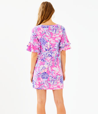 Lula Dress, Pink Tropics Sun Drenched, large
