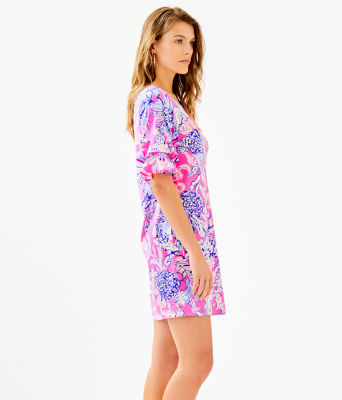 Lula Dress, Pink Tropics Sun Drenched, large 2