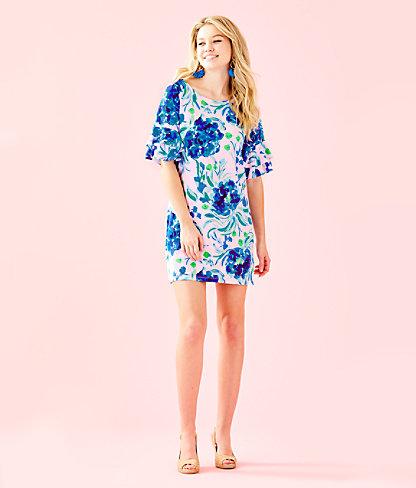 Lula Dress, Pink Tropics Tint Sweet Pea, large 3