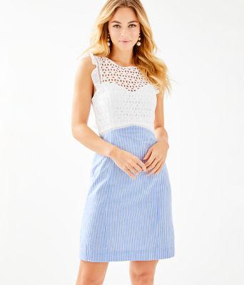 Maya Shift Dress, Coastal Blue Seersucker, large 0
