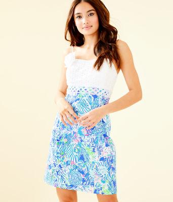 Liz Dress, Coastal Blue Lion Around, large 0