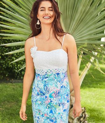 Liz Dress, Coastal Blue Lion Around, large