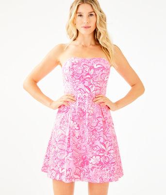 Blossom Dress, Pink Tropics Tint Bunny Hop, large 0