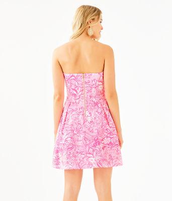Blossom Dress, Pink Tropics Tint Bunny Hop, large 1