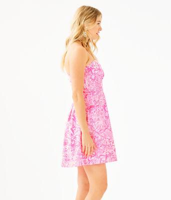 Blossom Dress, Pink Tropics Tint Bunny Hop, large 2