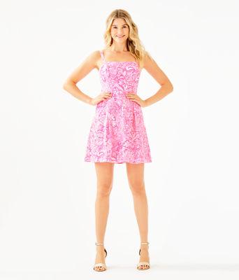 Blossom Dress, Pink Tropics Tint Bunny Hop, large 3