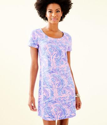UPF 50+ Tammy Dress, Coastal Blue Maybe Gator, large