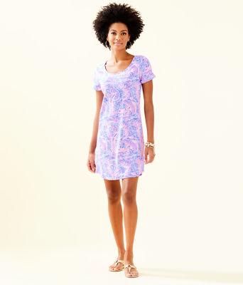 UPF 50+ Tammy Dress, Coastal Blue Maybe Gator, large 3