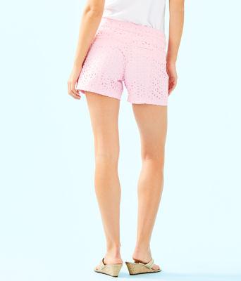 """5"""" Kelly Short, Pink Tropics Tint Oval Flower Petal Eyelet, large 1"""
