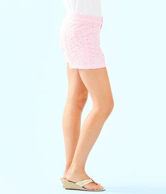 """5"""" Kelly Short, Pink Tropics Tint Oval Flower Petal Eyelet, large"""
