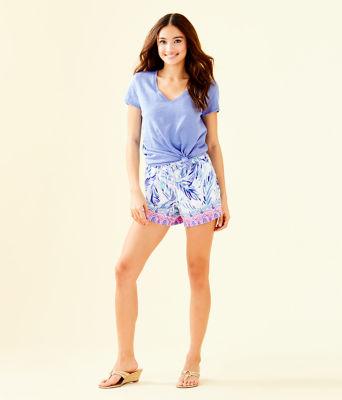 """5"""" Katia Short, Resort White Flock Together Engineered Shorts, large 3"""