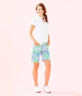 """10"""" Bettina Golf Short - UPF 50+, Bali Blue Sway This Way, large"""