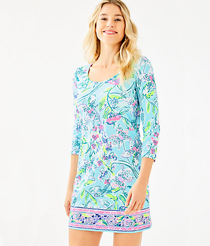 Beacon Dress, Bali Blue Sway This Way Engineered Knit Dress, large 0