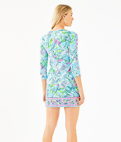 Beacon Dress, Bali Blue Sway This Way Engineered Knit Dress, large 1