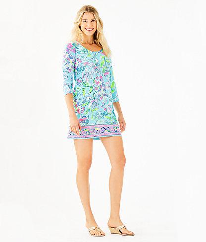 Beacon Dress, Bali Blue Sway This Way Engineered Knit Dress, large 3