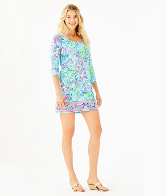 Beacon Dress, Bali Blue Sway This Way Engineered Knit Dress, large