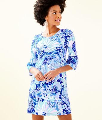 Ophelia Dress, Coastal Blue Catch N Keep, large