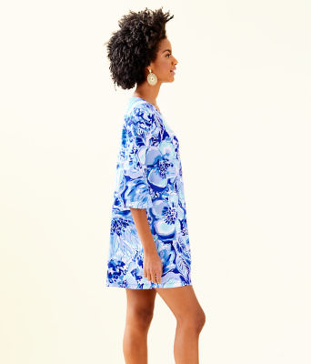 Ophelia Dress, Coastal Blue Catch N Keep, large 2