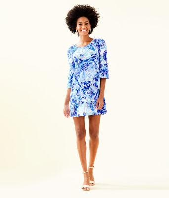 Ophelia Dress, Coastal Blue Catch N Keep, large 3