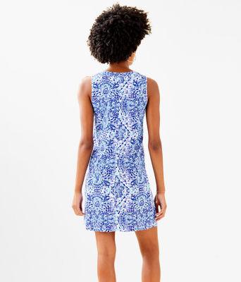 Amina Dress, Resort White Call My Shell Phone Engineered Amina Dre, large 1