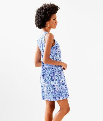 Amina Dress, Resort White Call My Shell Phone Engineered Amina Dre, large 2