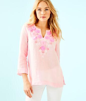 Amelia Island Tunic, Pink Tropics Tint, large