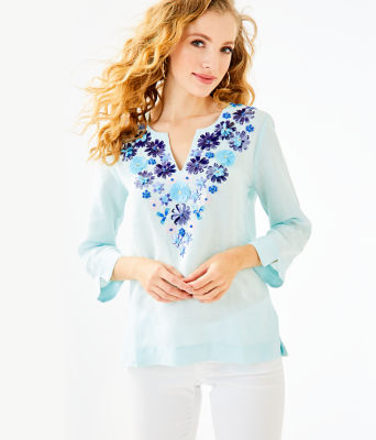 Amelia Island Tunic, Whisper Blue, large 0