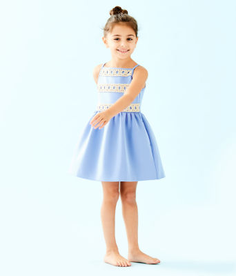Girls Elize Dress, Blue Peri, large 0