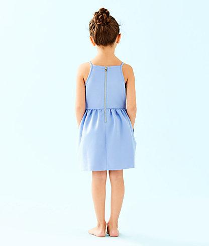 Girls Elize Dress, Blue Peri, large 1