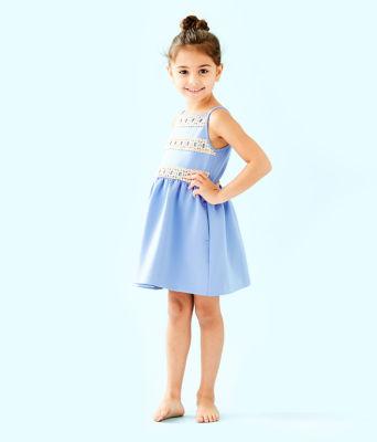 Girls Elize Dress, Blue Peri, large 2