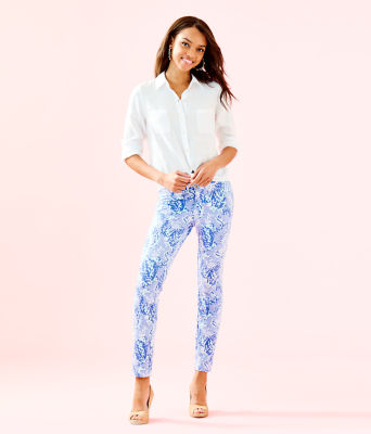 """29"""" Kelly Knit Skinny Ankle Pant, Blue Peri Turtley Awesome, large"""