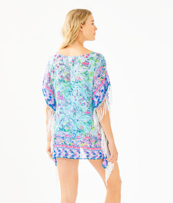 Ginette Cover-Up, Bali Blue Sway This Way Swim Engineered Cover Up, large 1