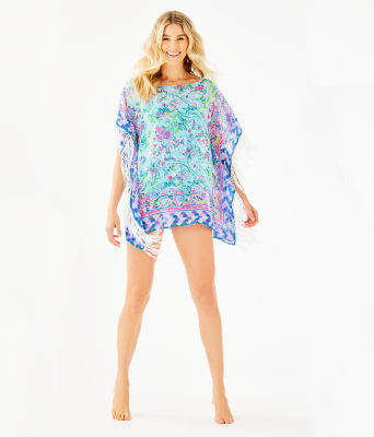 Ginette Cover-Up, Bali Blue Sway This Way Swim Engineered Cover Up, large 2