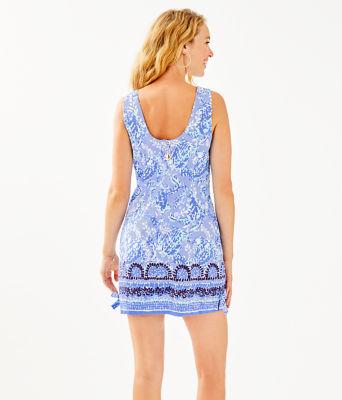 Mila Stretch Shift Dress, Blue Peri Turtley Awesome Engineered Dress, large 1