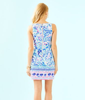 Gabby Shift Dress, Breakwater Tint Party Wave Engineered Shift, large 1