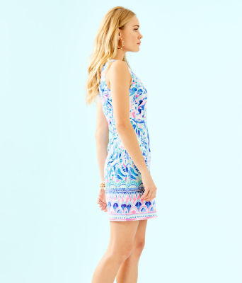 Gabby Shift Dress, Breakwater Tint Party Wave Engineered Shift, large 2
