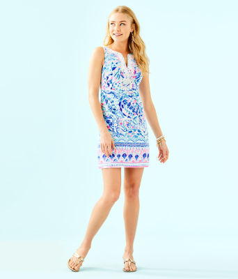 Gabby Shift Dress, Breakwater Tint Party Wave Engineered Shift, large 3